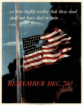 'Remember December 7th' US Government propaganda poster of 1942