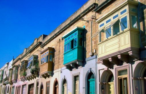 Balconies on traditional houses in Valetta (Copyright: Getty Images)