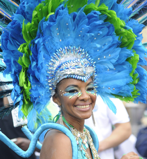 The Notting Hill Carnival in mulitcultural London.